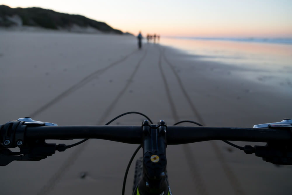 bicycle ride on beach